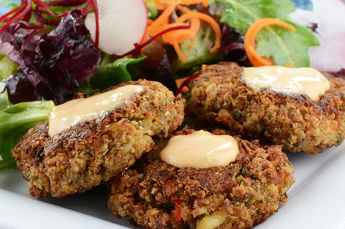Crab Cakes with Lemon Cilantro Aioli