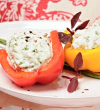 Herbed Ricotta Stuffed Peppers